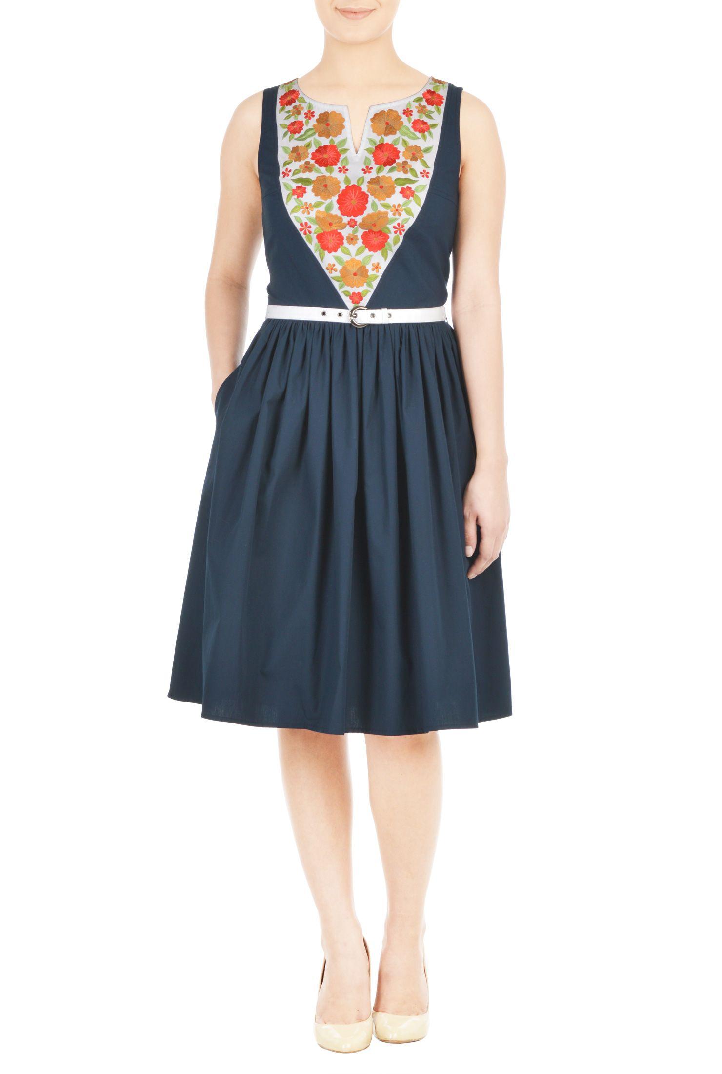 Aline dresses below knee length dresses boat neck dresses casual
