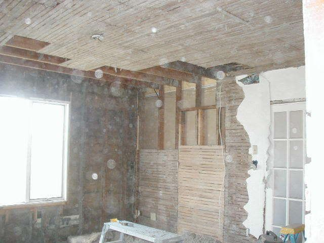Removing Lathe And Plaster Insulating Drywalling Old