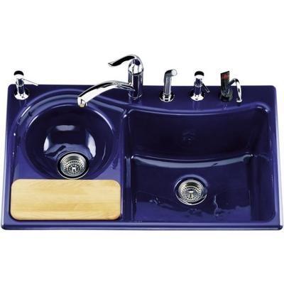 Cobalt Blue Kitchen Sink Craigslist On Cilantro Tm Self With Five