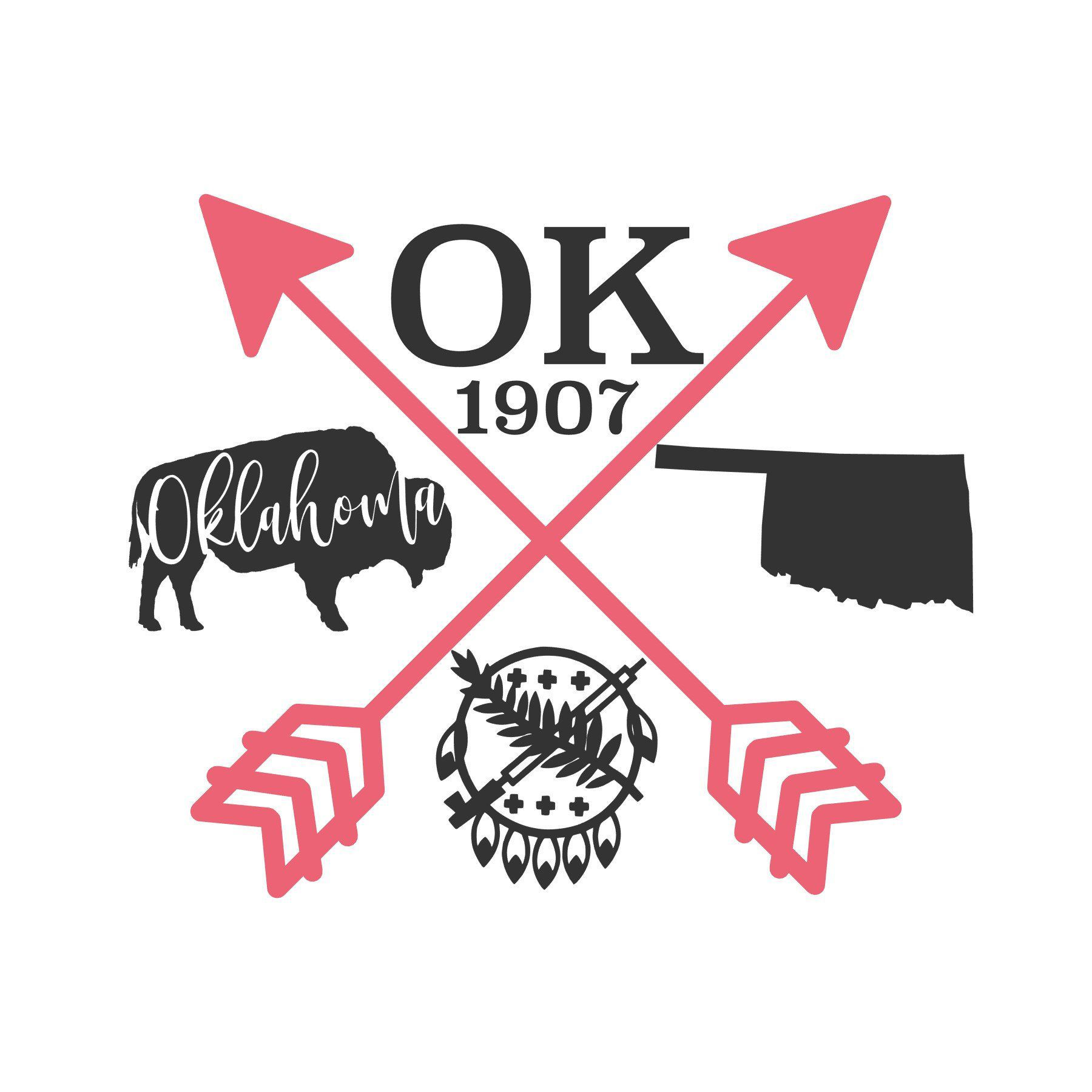 Oklahoma Love SVG Oklahoma, Custom tumblers, Cricut