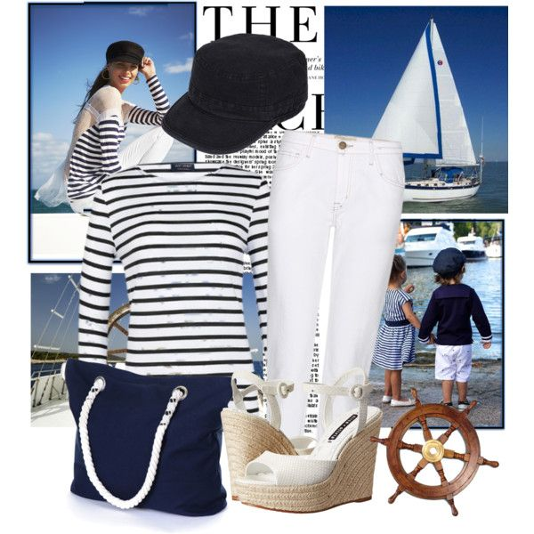 Summer by sophia561 on Polyvore featuring Saint James, Current/Elliott, Alice + Olivia and H&M