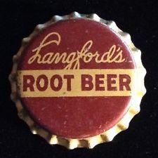 LANGFORDS ROOT BEER soda bottle cap cork unused