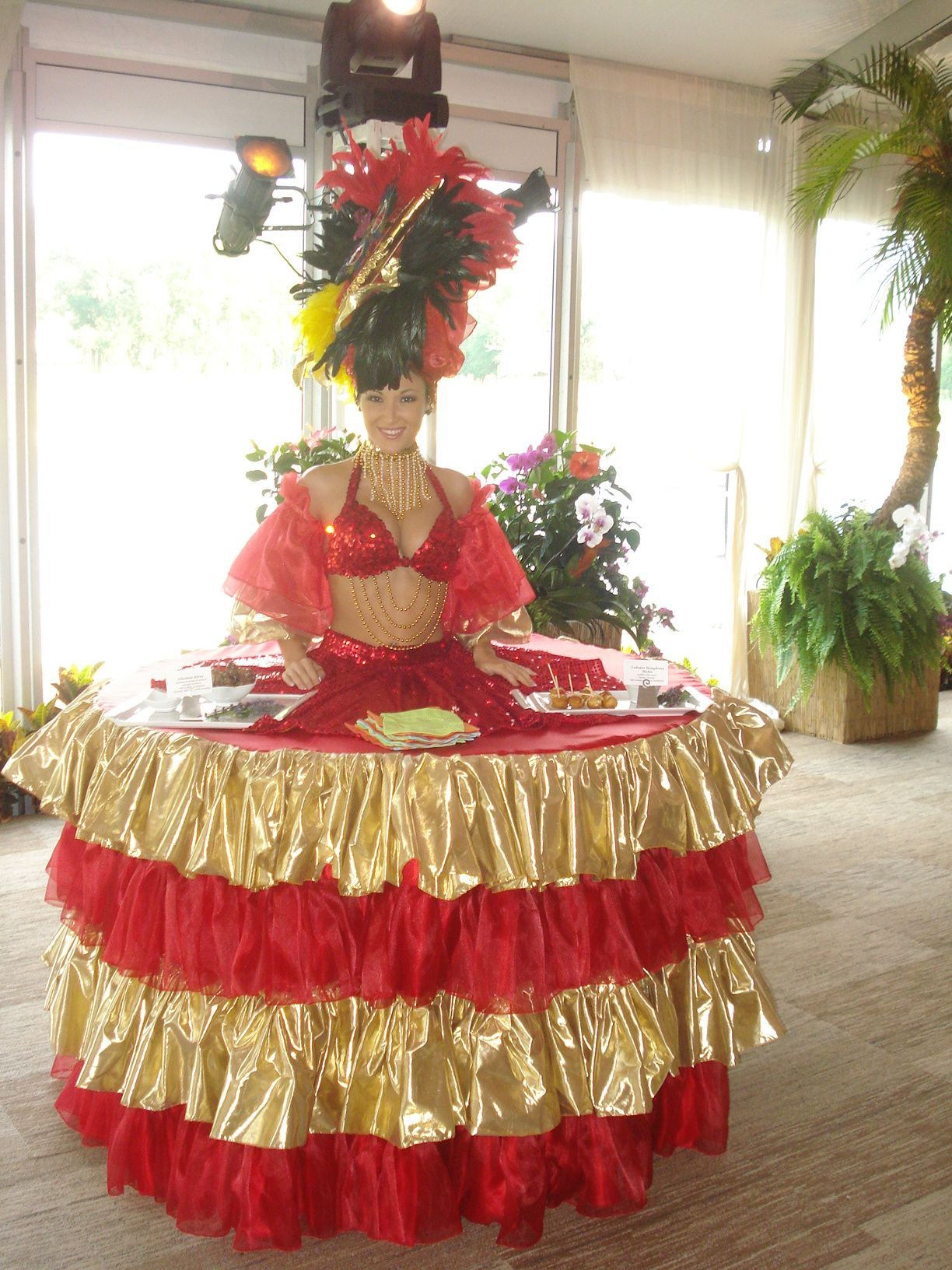 Caribbean Style Strolling Table Diva By J & D Entertainment