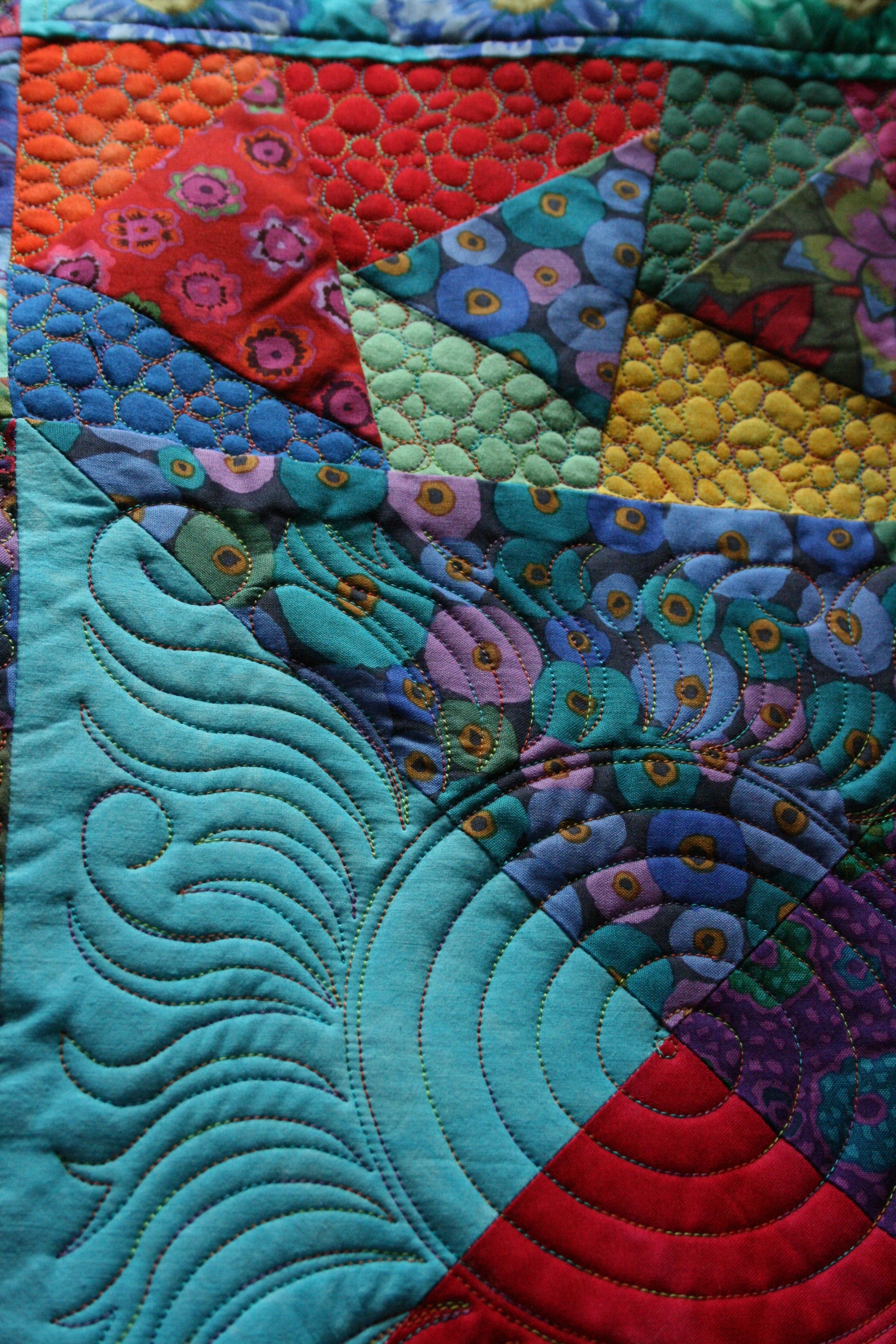 Longarm quilting by The Running Chicken Quilting Co. (UK). Kaffe ... : professional quilting services - Adamdwight.com