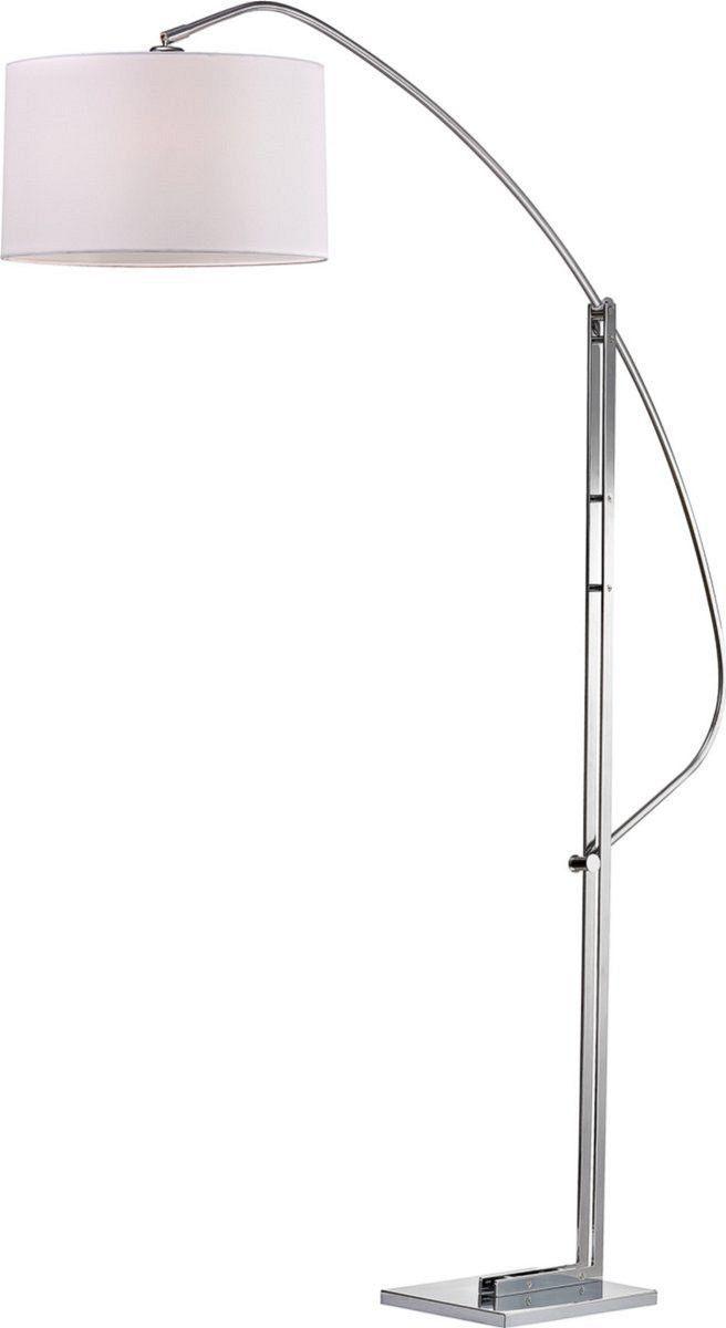 0 016158 Assissi 1 Light Arc Floor Lamp Polished Nickle Floor Lamp Arc Floor Lamps Fabric Shades