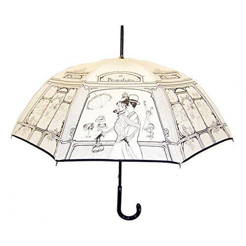 GUY DE JEAN - BOUTIQUE Long Handled Umbrella - Ivory Guy de Jean