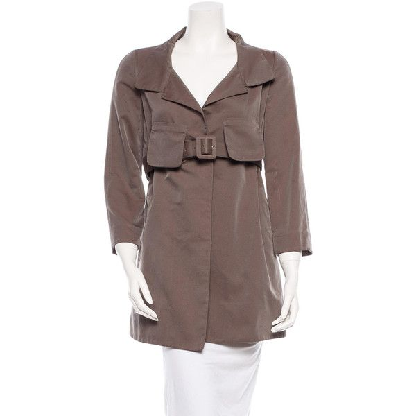 Pre-owned Marni Coat ($200) ❤ liked on Polyvore featuring outerwear, coats, brown, marni, brown coat and marni coat