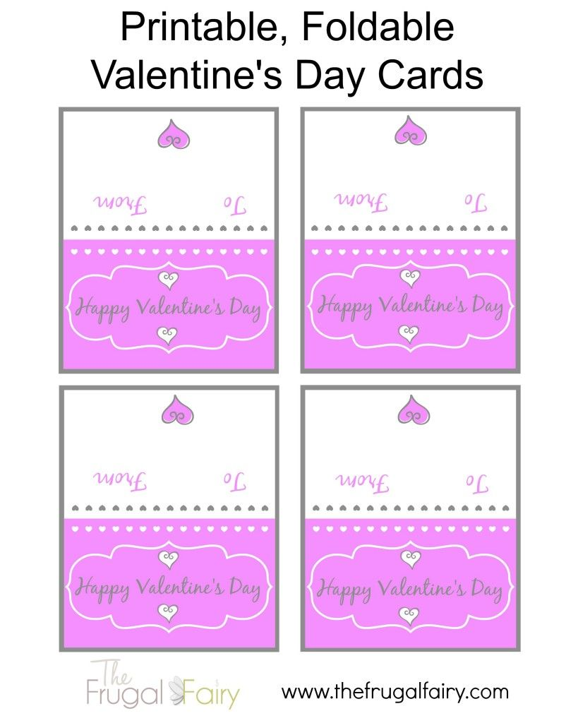 Foldable Free Printable Printable Valentines Day Cards To Color