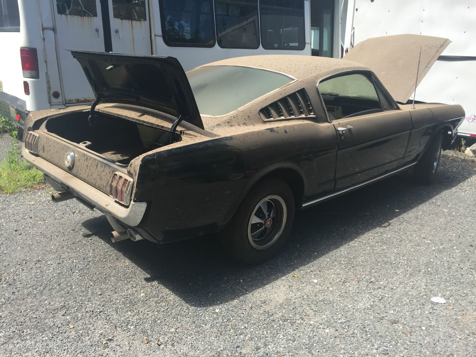Ford Mustang FORD MUSTANG FASTBACK 2 2 289 4 SPD RUNS BARN FIND