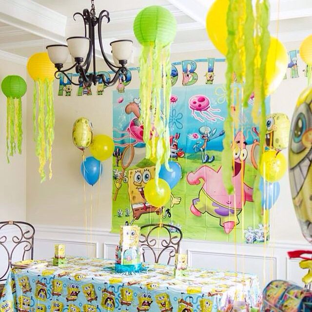 Spongebob Party Decor DIY Jellyfish Third Birthday