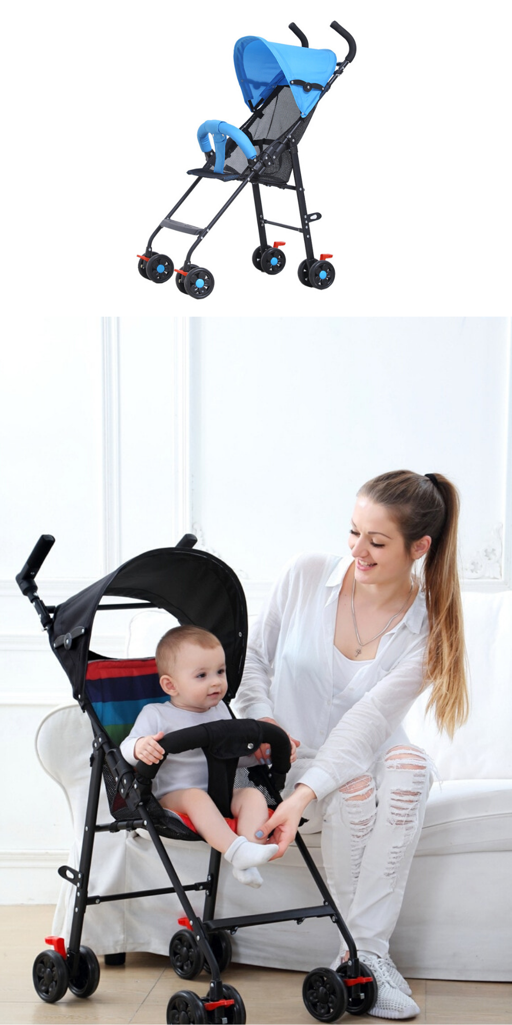 Baby stroller Baby stroller super light and easy to
