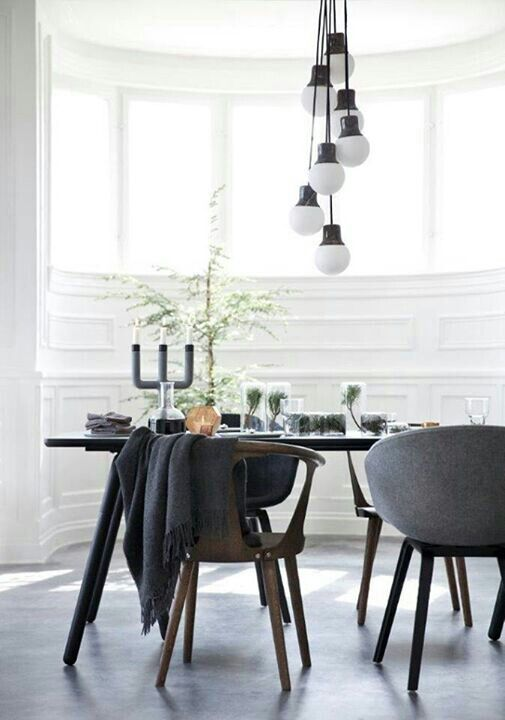 Pinandra Andruta On Home Decor  Pinterest  Dining Interiors Endearing Grey Dining Room Chairs Decorating Design