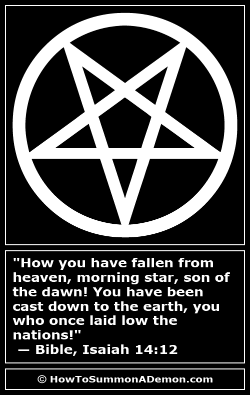 Satanic Quote How You Have Fallen From Heaven Morning Star Son