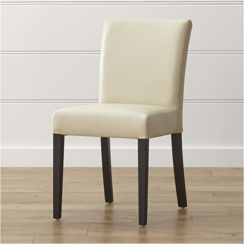 178 Shop Lowe Ivory Leather Dining Chair With A Generous Seat