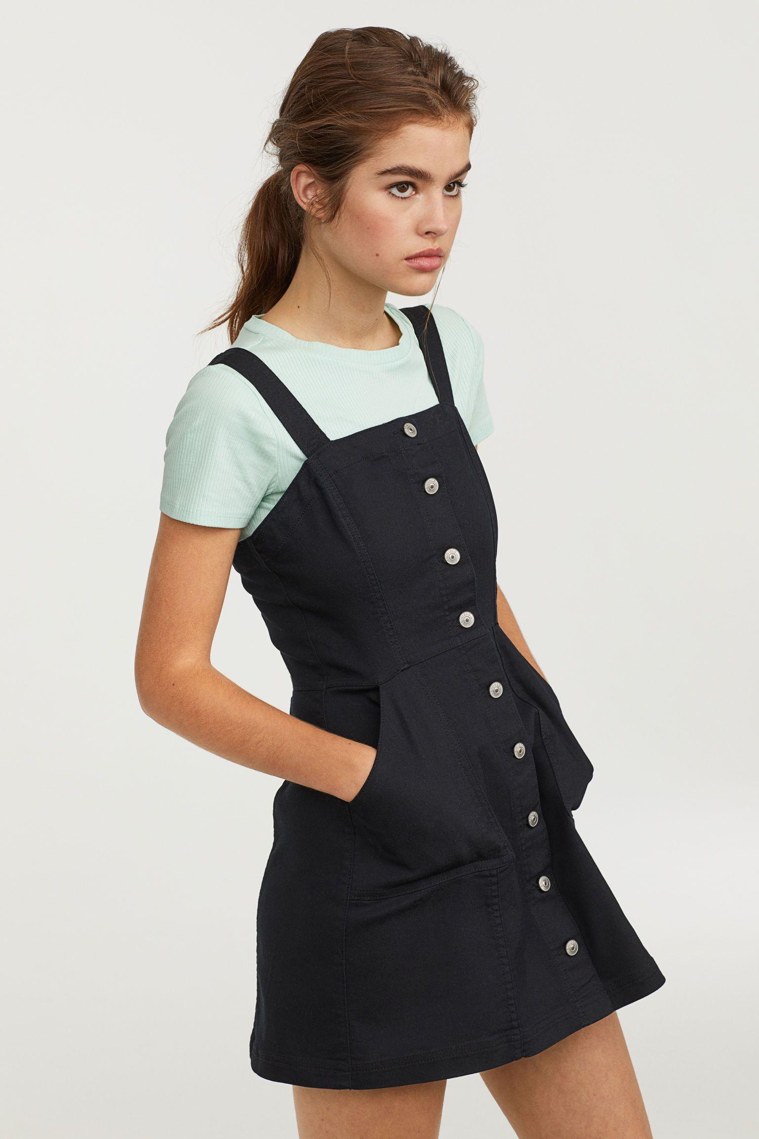 a705d83204 H M bib overall dress