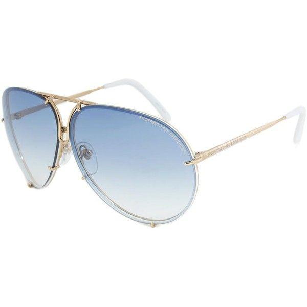 Porsche Design P8478 W Titanium Sunglasses ($279) ❤ liked on Polyvore featuring accessories, eyewear, sunglasses, glasses, gold, porsche, lens glasses, titanium eyewear, porsche eyewear and porsche sunglasses