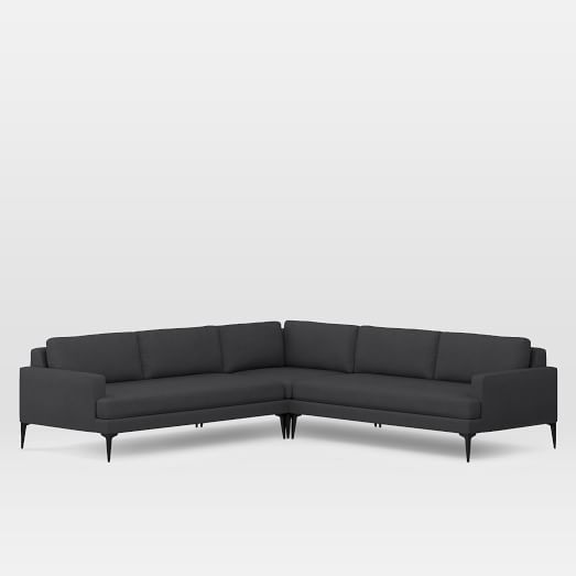 Andes 3 Piece L Shaped Sectional 5 Seater Sofa L Shape