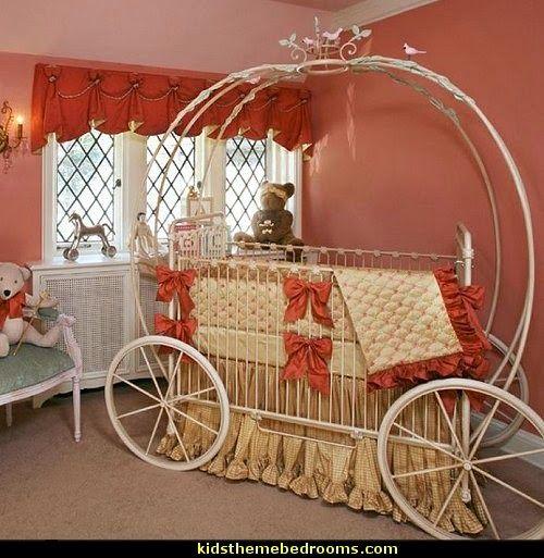 Beautiful Fairytale Pumpkin Round Crib Cinderella Bed   Cinderella Carriage Bed