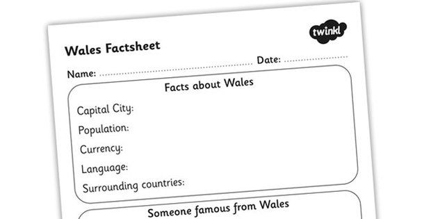 Wales Factsheet Writing Template  Wales Wales Fact Sheet Wales