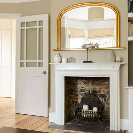 Victorian semi in Berkshire | Living room fireplace, Semi detached ...