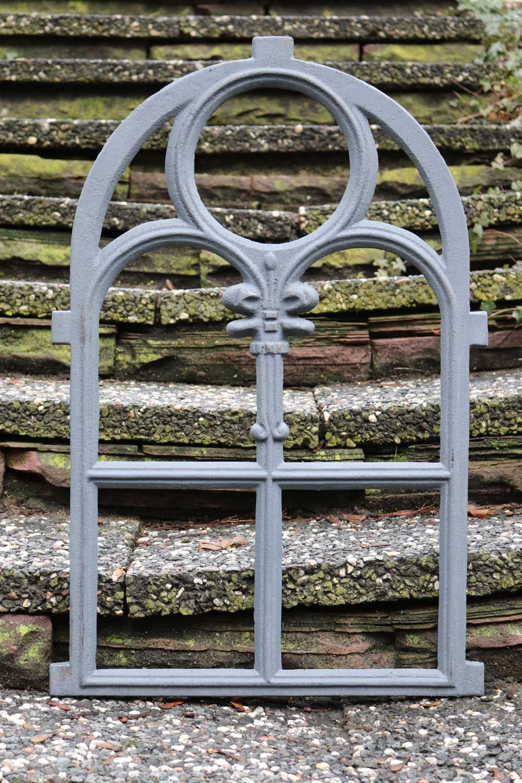 Stallfenster Fenster Scheunenfenster Eisen Grau 74cm Antik Stil