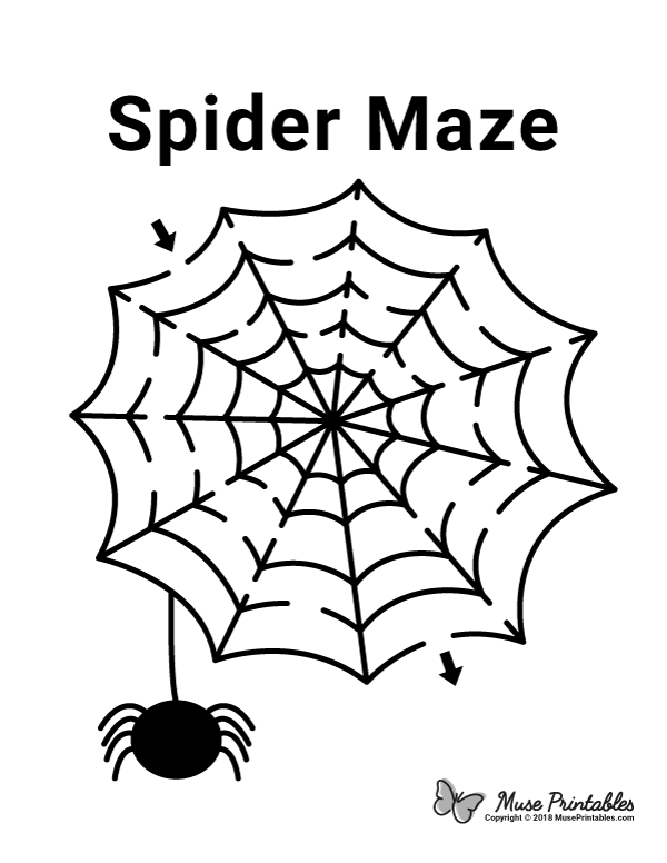 Free Printable Spider Maze Download It At Https Museprintables Com Download Maze Spider Maze Worksheet Mazes For Kids Printable Mazes For Kids