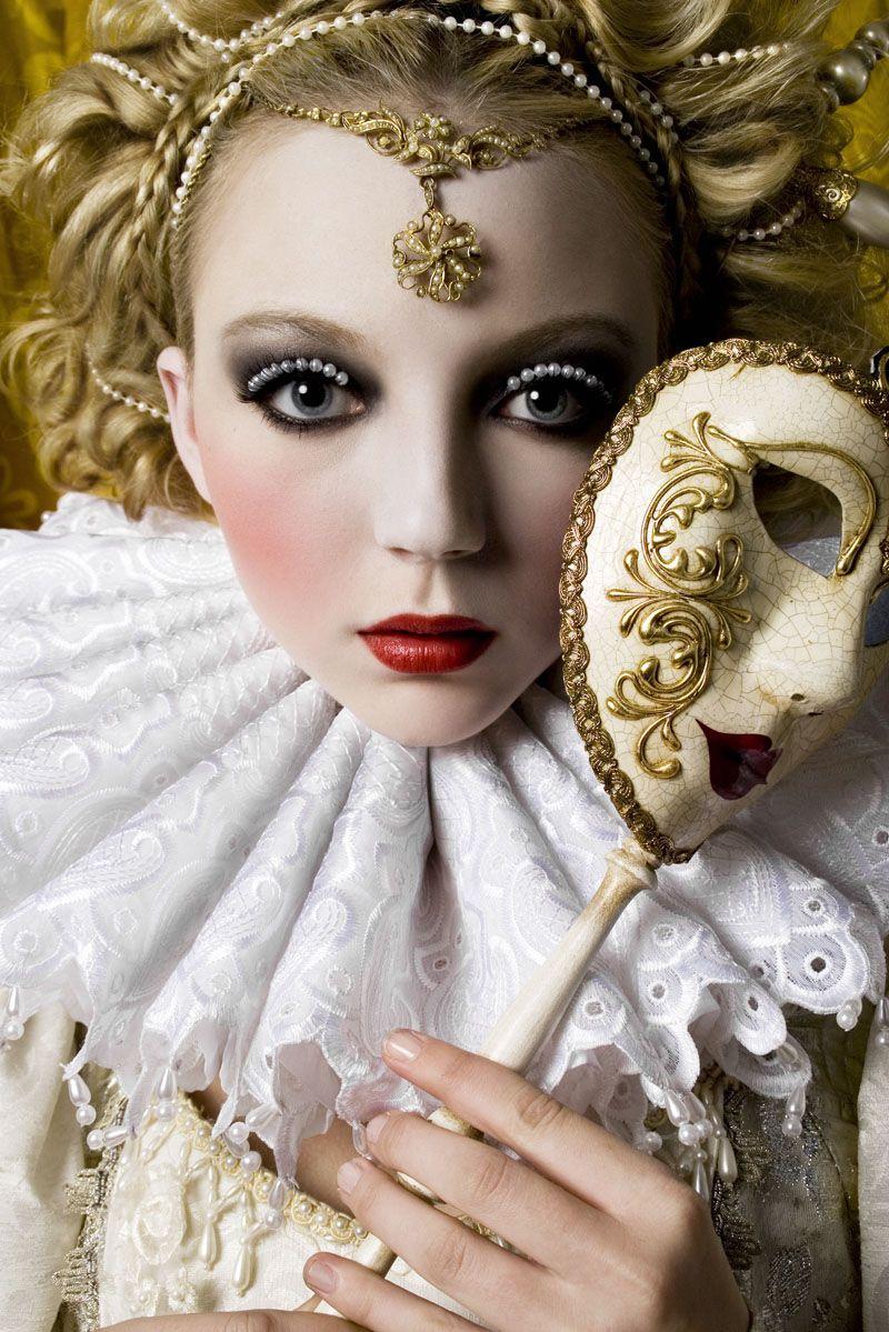alexia sinclair, baroque, ethereal, fashion, mask, model