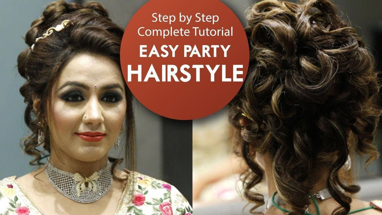 easy party hairstyle tutorial | step by step bridal hair