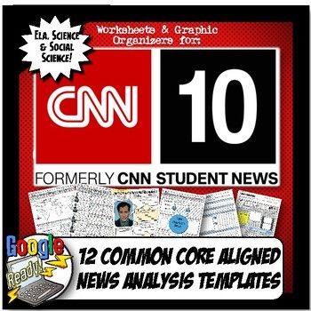 CNN Student News Current Event Analysis, CNN 10 Common Core