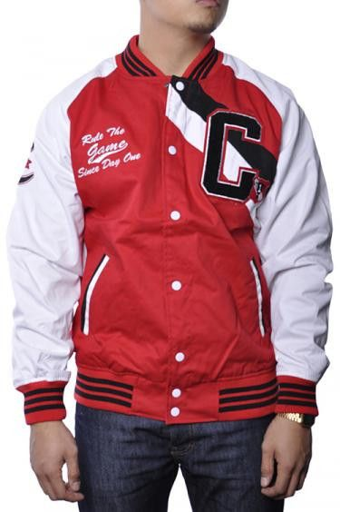 Raw Blue Since Day One Varsity Letterman Jacket-Red