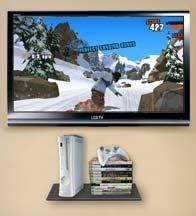 wholesale dealer 7495a c050f Glass Gaming Console Wall Shelf for Xbox 360, Ps3, Nintendo ...