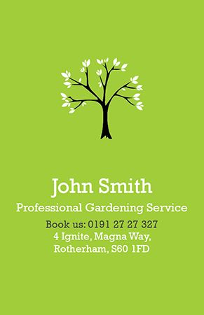 Business card design professional gardening service available to business card design professional gardening service available to personalise on our design online system reheart Gallery