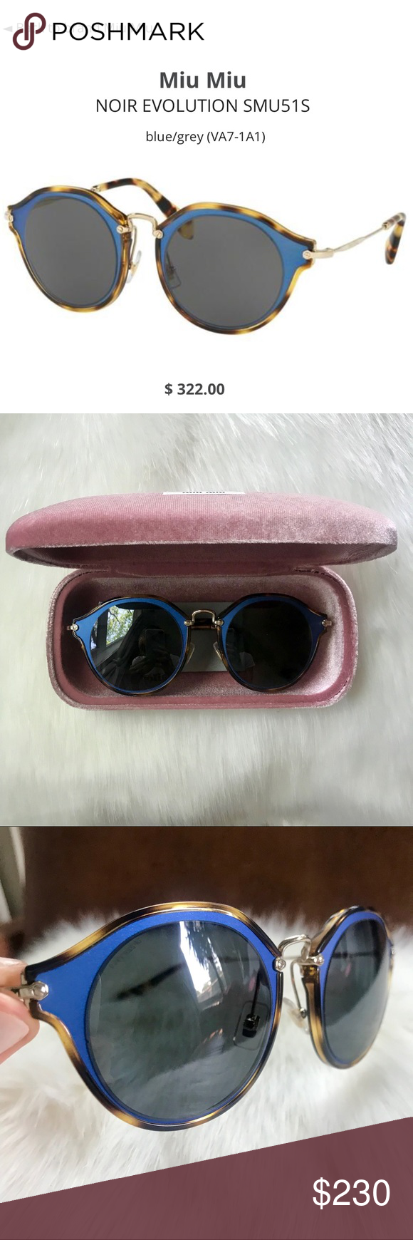 4c59d0890132 Miu Miu Noir Evolution Sunglasses Beautiful sunnies by Miu Miu (Prada s  cooler more hip sister). In excellent condition - no scratches. Comes with  case.