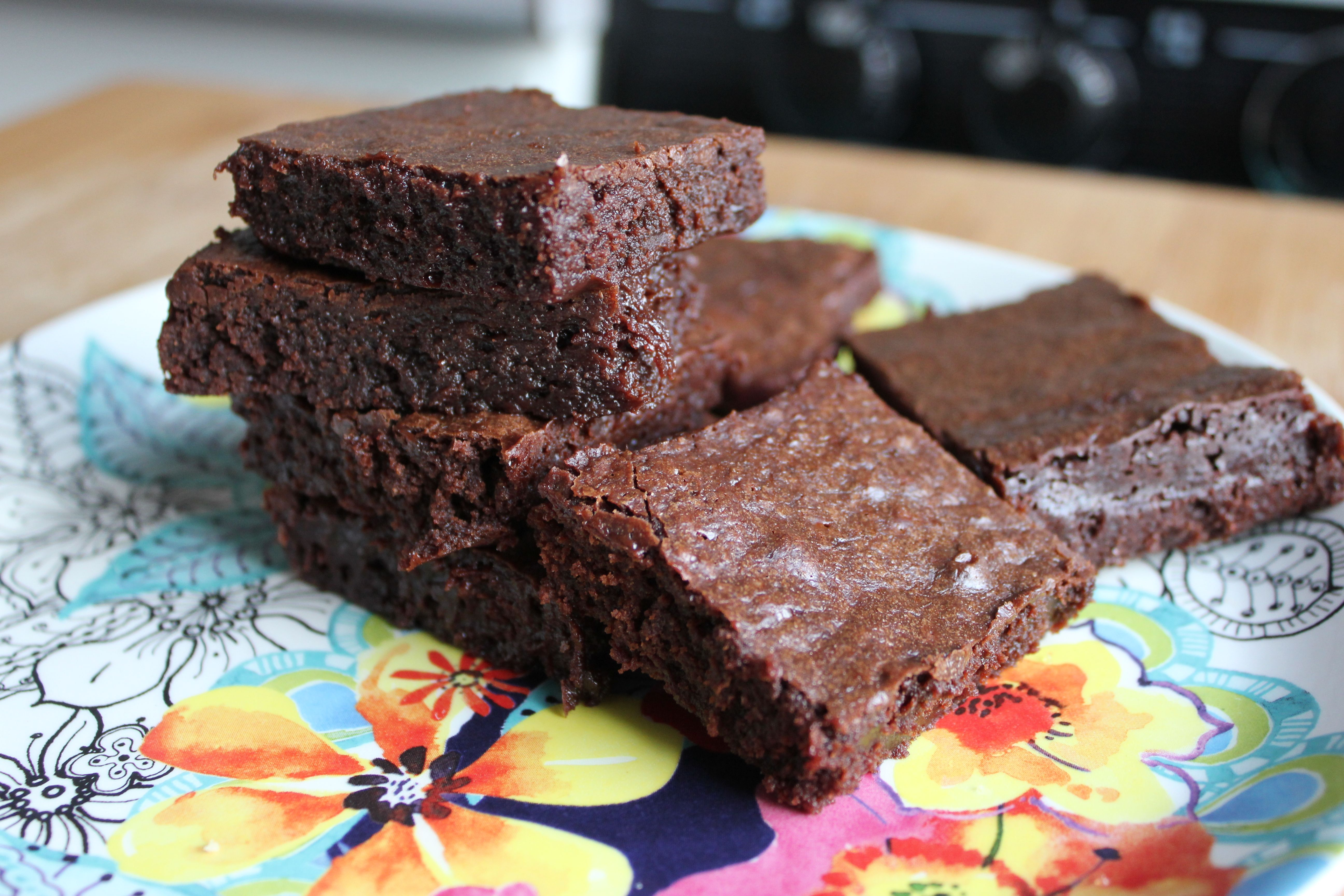 Easy brownies added 14 c water with a teaspoon of