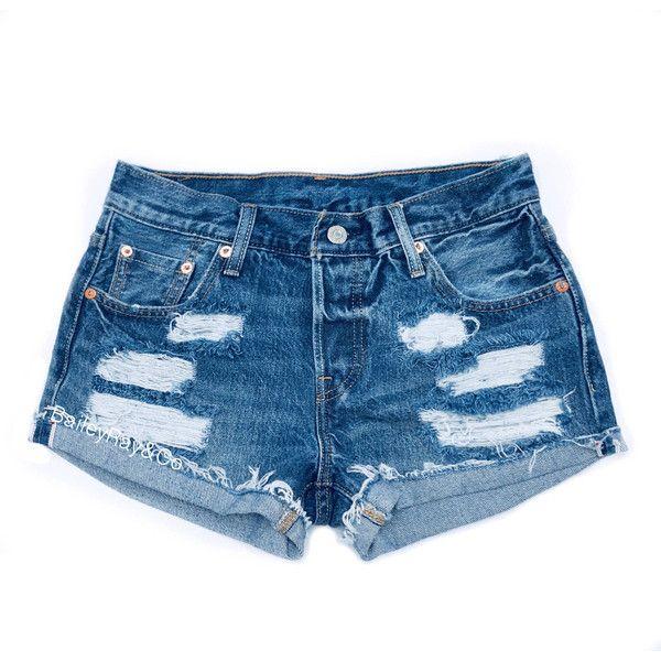 57347e316e4d Levis Shorts High Waisted Cutoffs Denim Cheeky All Sizes Xs S M L Xl ...