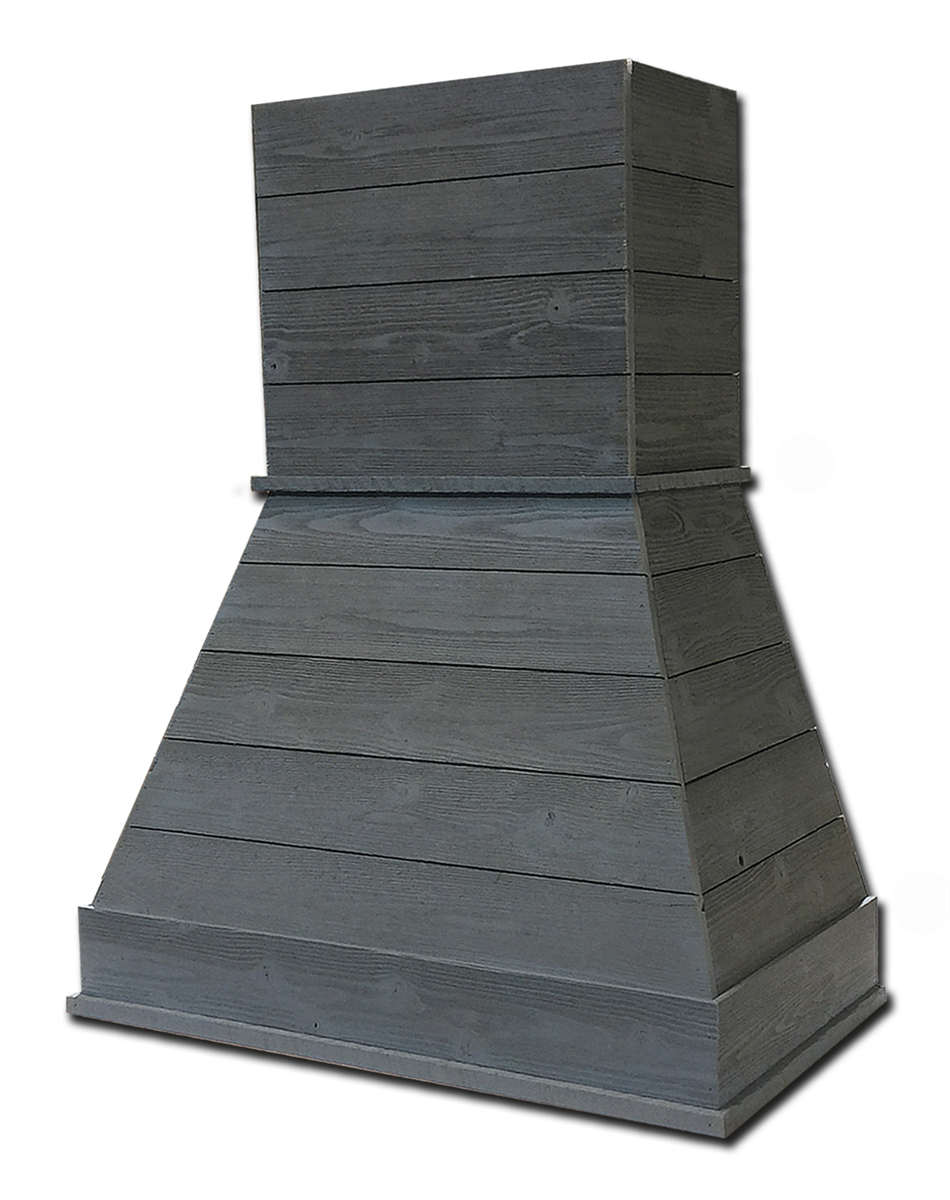 This Castlewood 36\' Rustic Shiplap Chimney Hood bundle includes a 36 ...