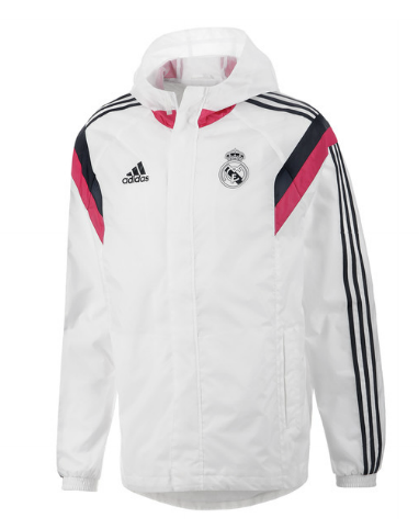 f36962c5e04f9 Real Madrid Training All Weather Jacket - White Real Madrid Official  Merchandise Available at www.itsmatchday.com