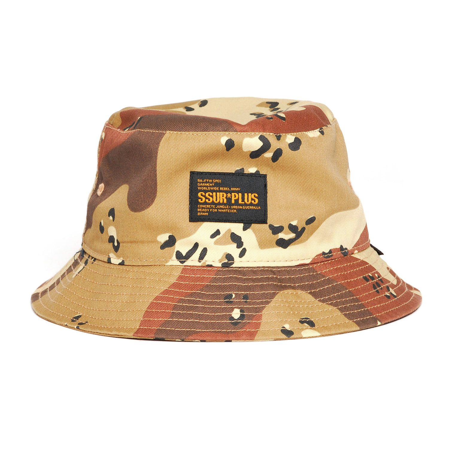 70f339be6 SSUR*PLUS / Desert Camo Bucket Hat | fajne
