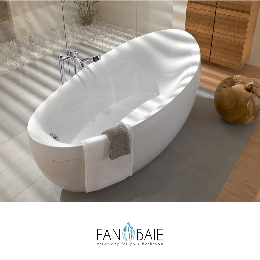 Cadă Free Standing Fabricată Din Quaryl Villeroy Boch Free Standing Bath Tub Bathroom Design Free Standing Bath