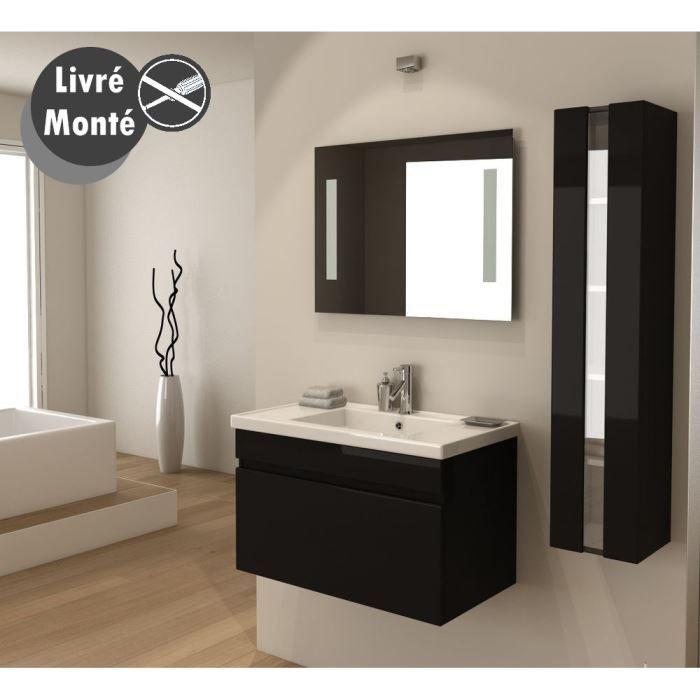 Couleur de mur dans les tons beige pour salle de bain noir laqué ...