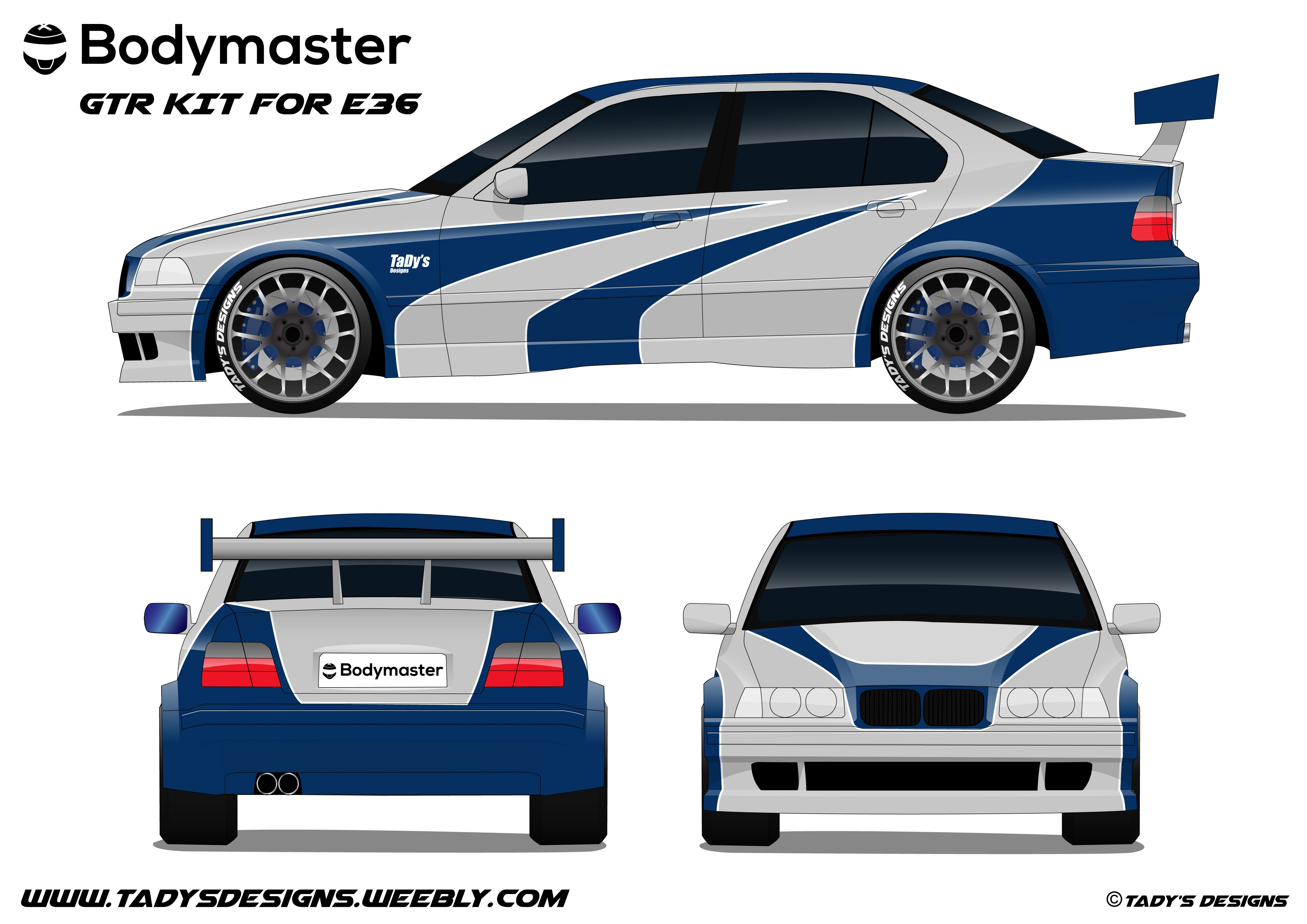 Tady S Bodymaster Gtr Kit For Bmw Serie 3 E36 With Most Wanted