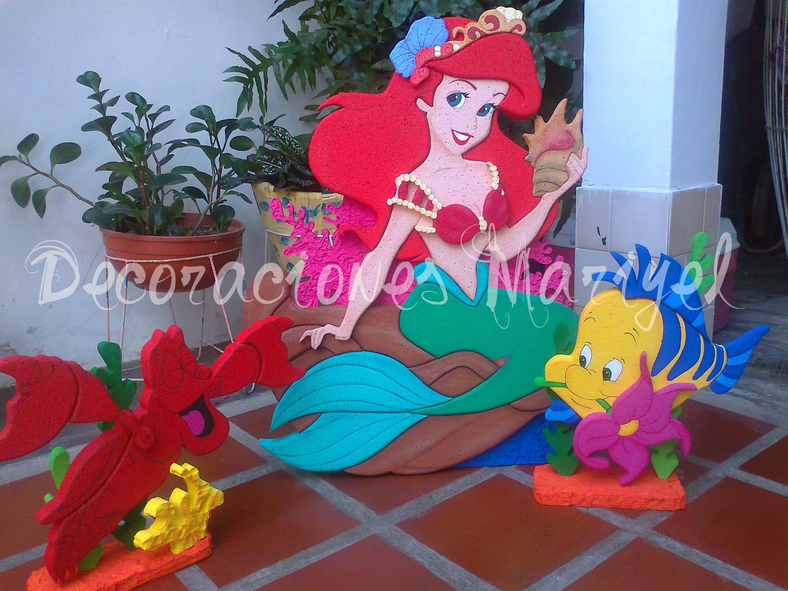 Pin En Fiesta De Ariel La Sirenita
