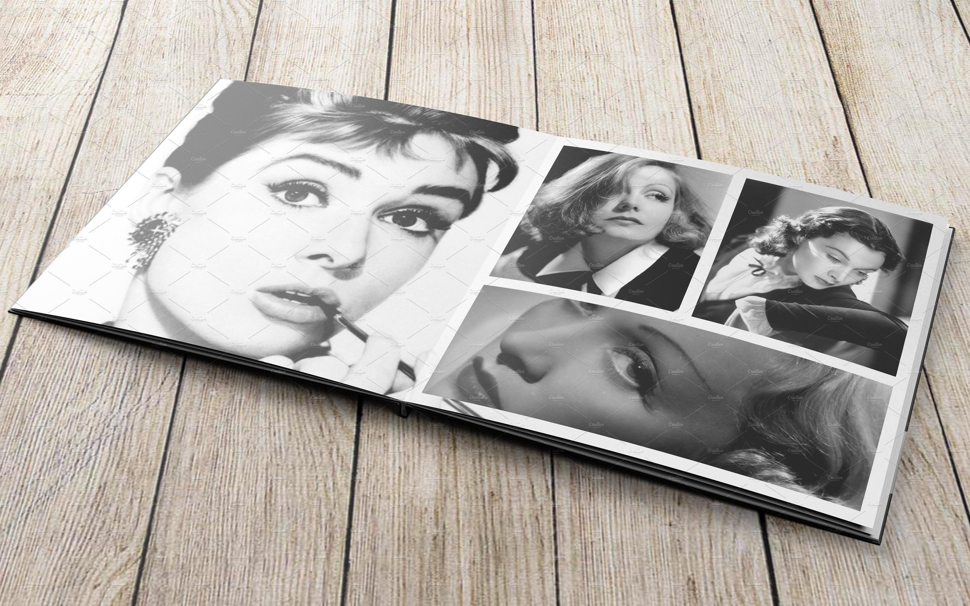 Square Photobook MockUp Photo book, Mockup free psd