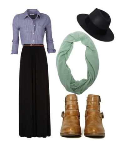 A #maxiskirt is perfect for outdoor #fall activities like #hayrides!