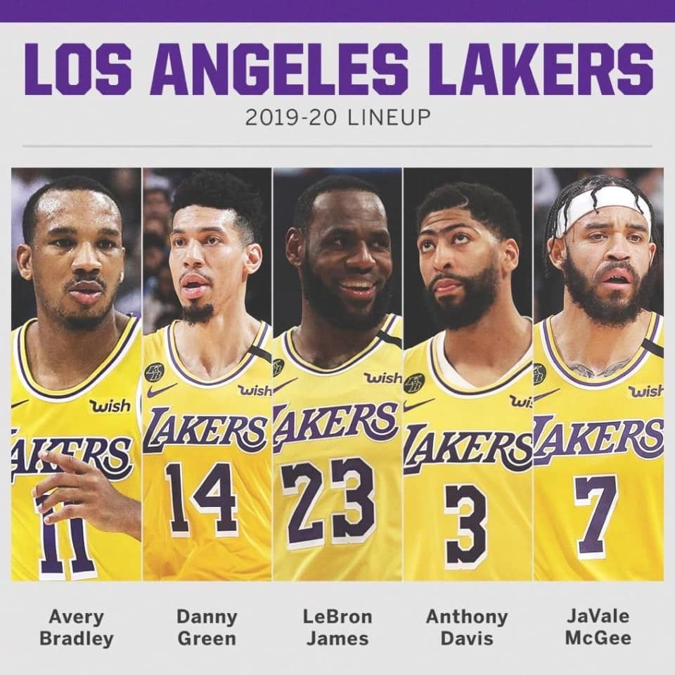 Los Angeles Lakers Starting 5 In 2020 Los Angeles Lakers Lakers Anthony Davis