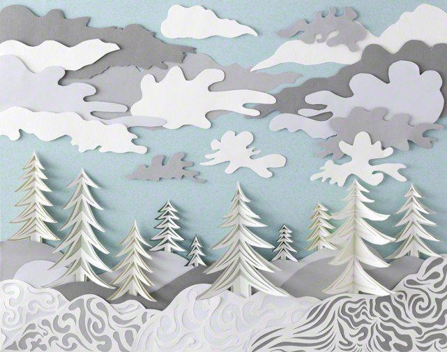 Art Print Paper Sculpture Winter by DeeDeeJacq on Etsy, $700.00 ...