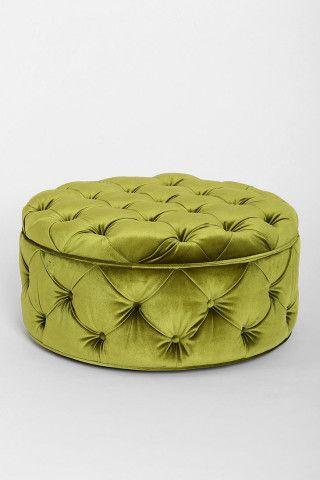 Bon Before U0026 After: A Glam Boudoir For Mad Menu0027s Costume Designer. Green  OttomanOttoman ...