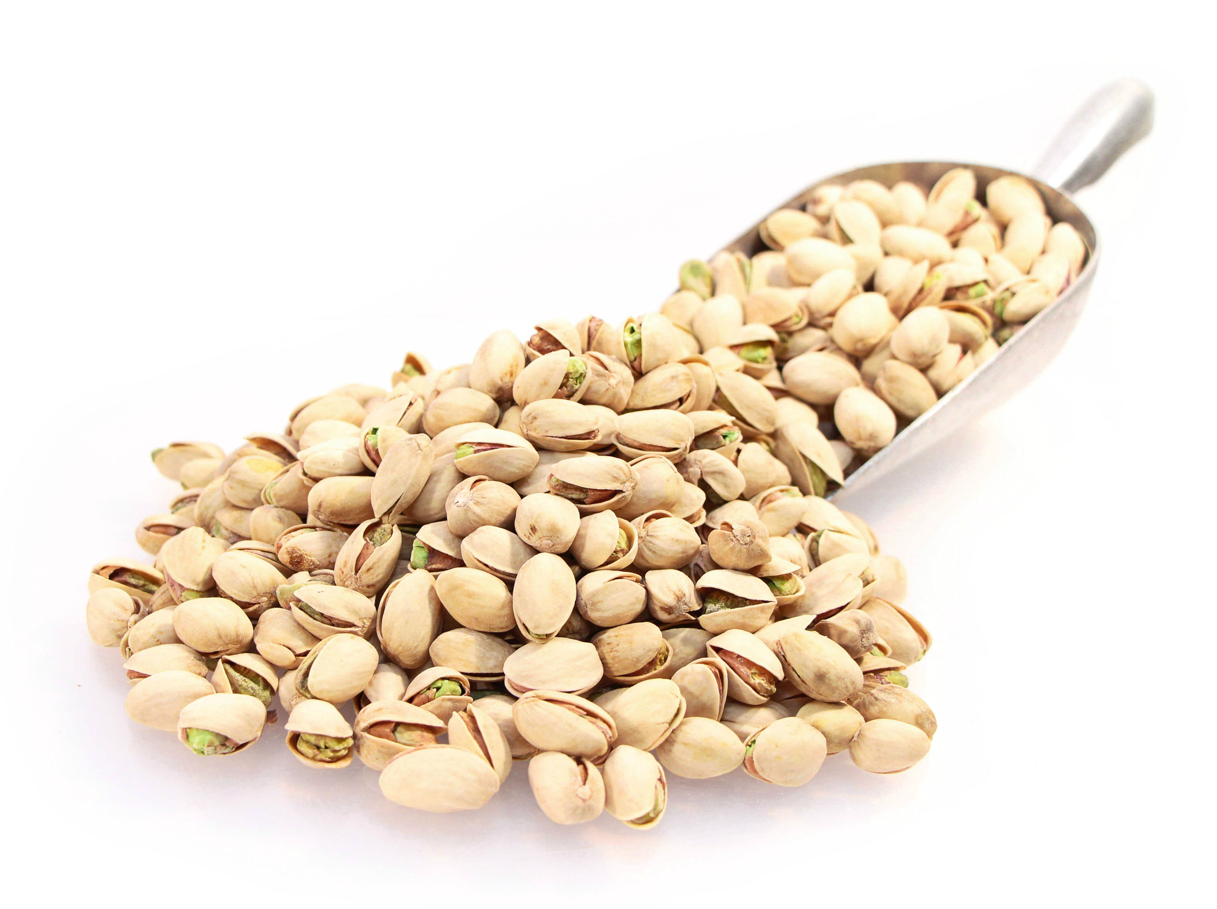 Roasted Salted Pistachios in Shell! California's pride and joy, roasted and lightly salted for your snacking pleasure!