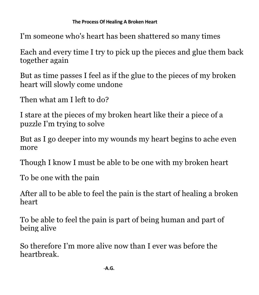 I Wrote This Poem Based On My Own Process Of Healing And Putting