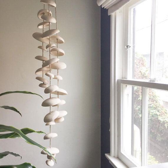 Olme Mond Wind chimes Bio hängenden Disk die Glocken Skulptur  natürliche Stärkungszauber Steinzeug